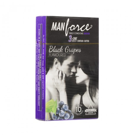 Manforce Black Grapes Flavoured Condoms - 10's