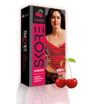 Skore Cherry Flavoured Condoms - 10's