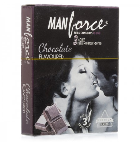Manforce Chocolate Flavour Condoms - 3's