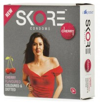 Skore Cherry Flavoured Condoms - 3's